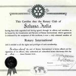 Certificato di nascita Rotary Club Saluzzo anno 1956
